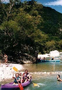 Canoë-kayak au Camping Le Glandasse